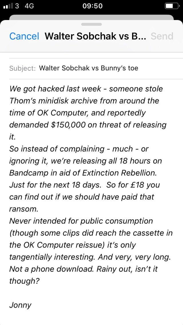 ¿Por qué Radiohead publicó online 18 horas de material inédito?