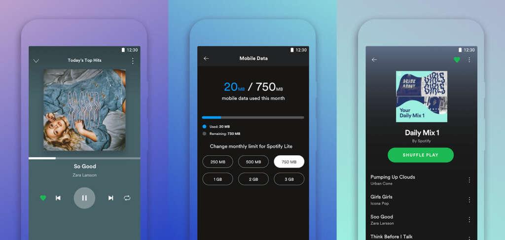 Spotify Lite: la nueva App de música que pesa solo 10 MB.