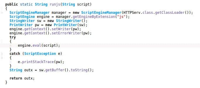 Ejemplo del código de ATMJaDi.