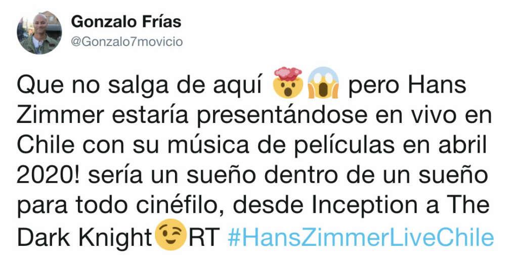 ¿Hans Zimmer viene a Chile en 2020? Así lo dice un rumor.