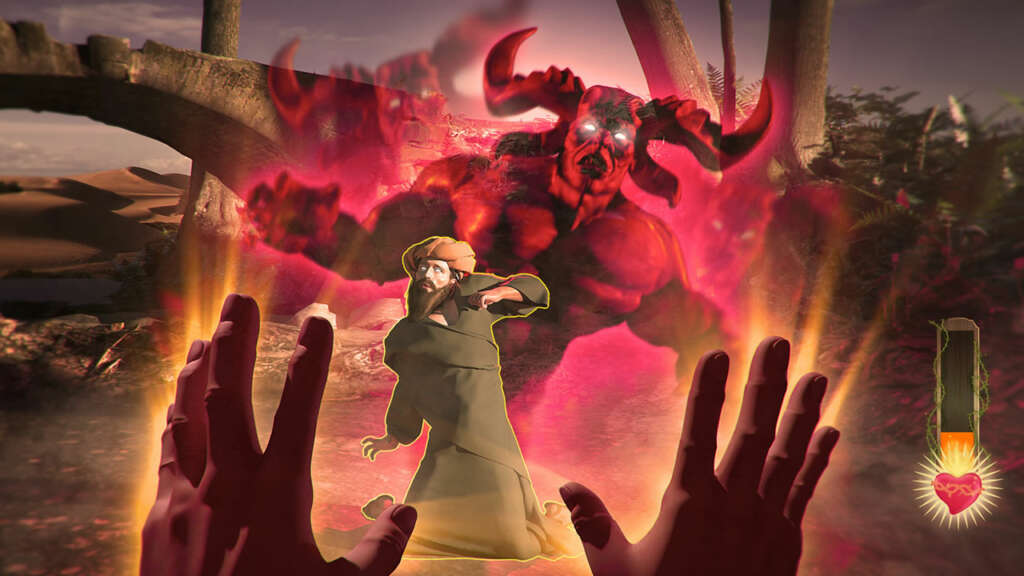 Un videojuego tipo shooter donde serás Jesucristo con poderes.
