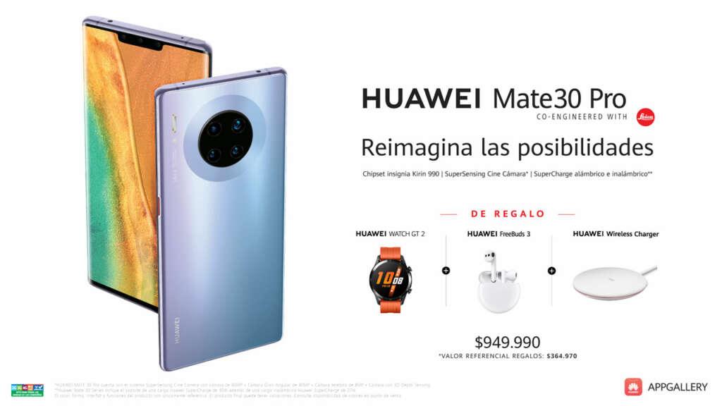 A un precio altísimo para Huawei: Mate 30 Pro en Chile se venderá por $950.000 CLP.