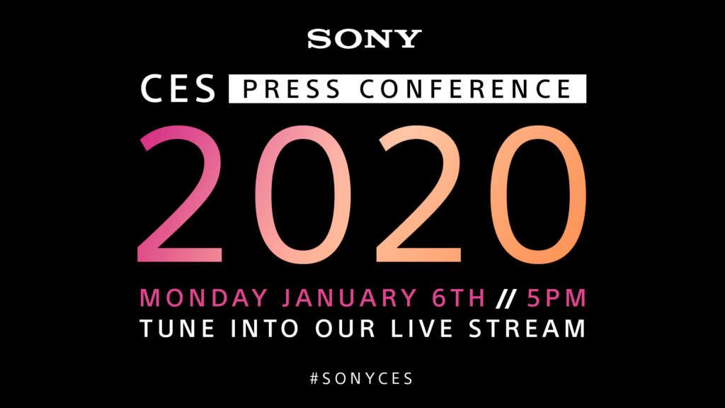 Sigue por streaming la presentación de Sony en CES 2020.