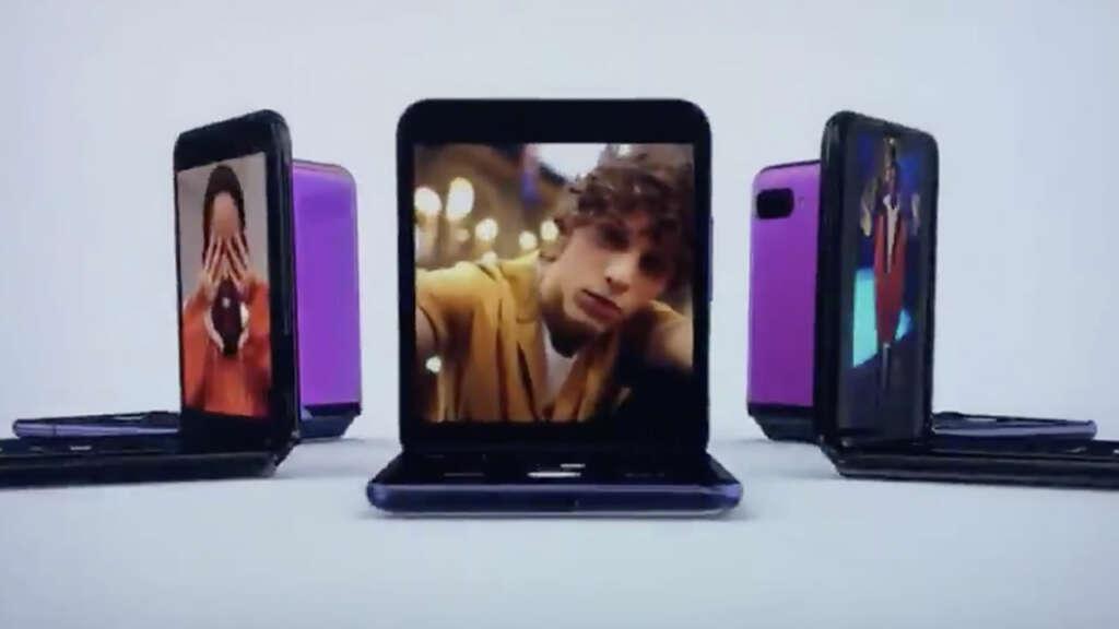 Samsung mostró en los Oscars 2020 un comercial del Galaxy Z Flip antes de anunciarlo.
