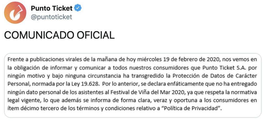 Gobierno espiaría a los asistentes del Festival de Viña por los datos en la compra de entradas.