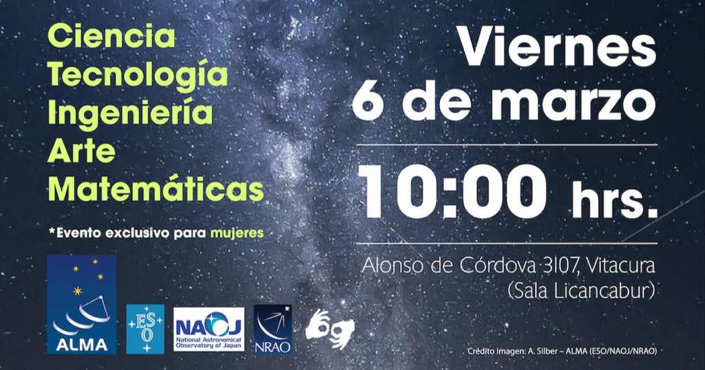 Charla sobre el rol de la mujer en la ciencia será organizada por el Observatorio Alma.