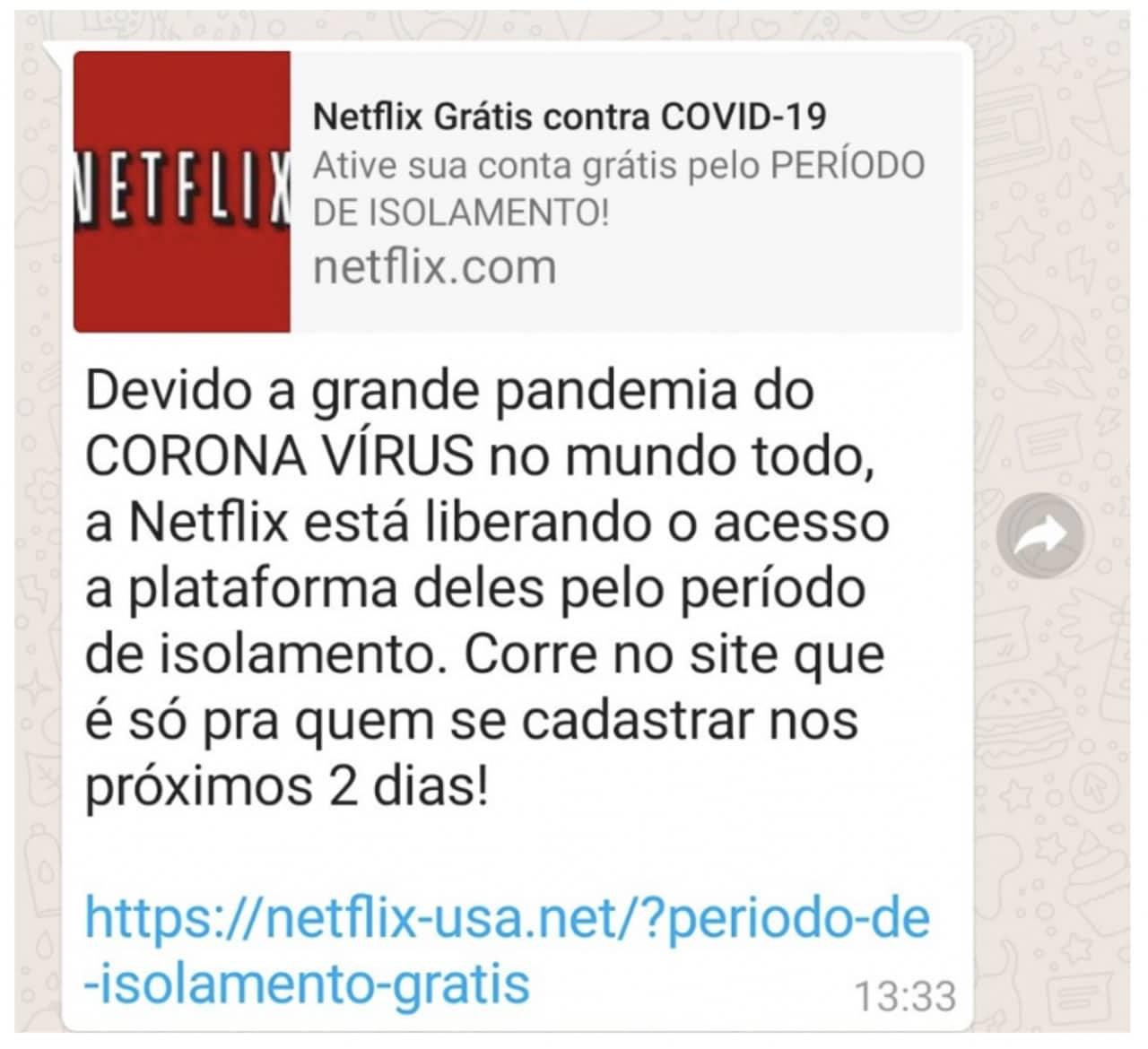 Utilizan a Netflix como carnada para estafa en WhatsApp por Coronavirus.