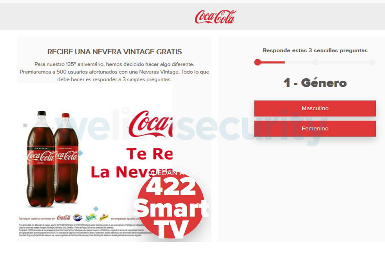 Nueva estafa promete neveras vintage de Coca-Cola por WhatsApp.