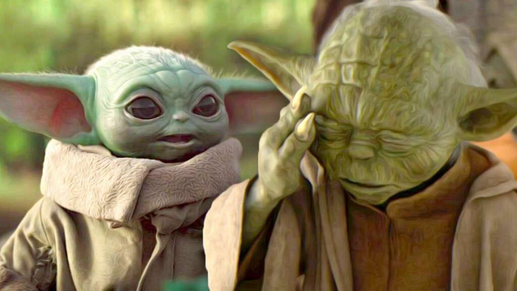 Yoda y Baby Yoda de Star Wars.