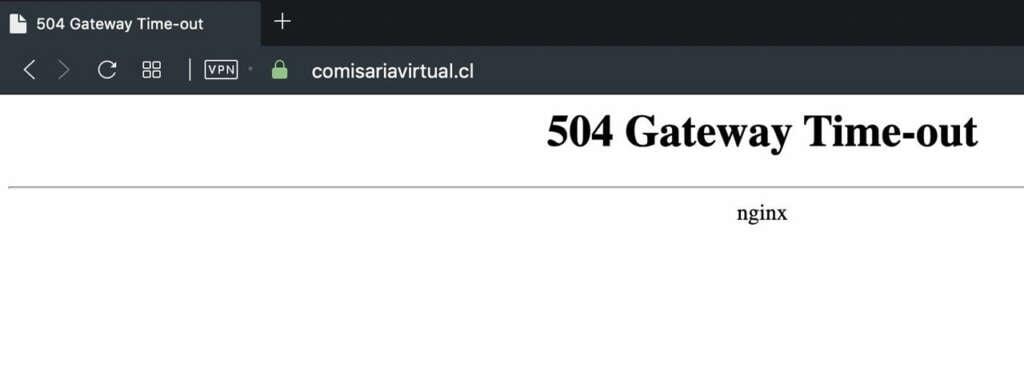 Comisaría Virtual caída.