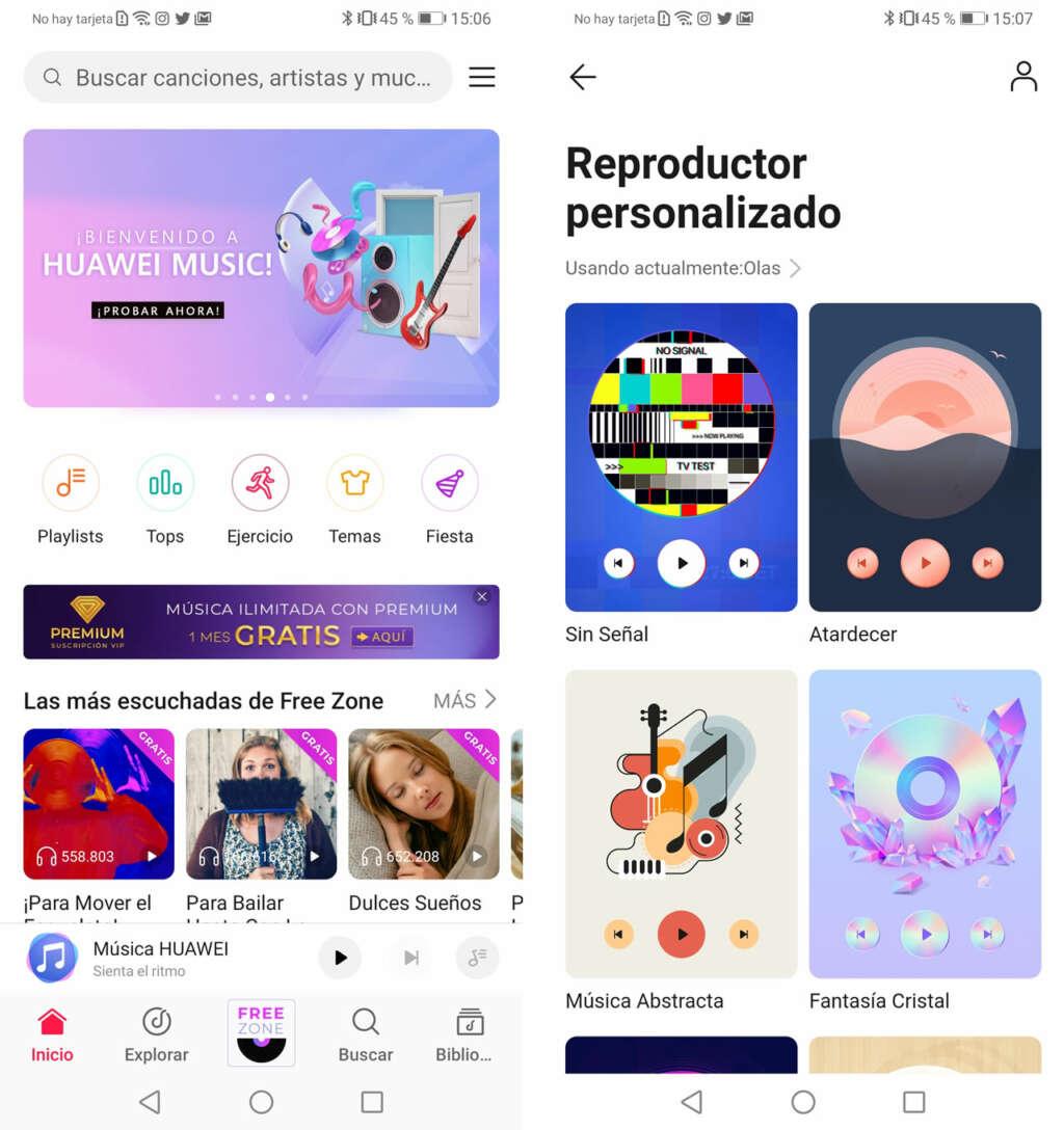 Huawei Music ya funciona en Chile, Argentina, México y otros países de la región.
