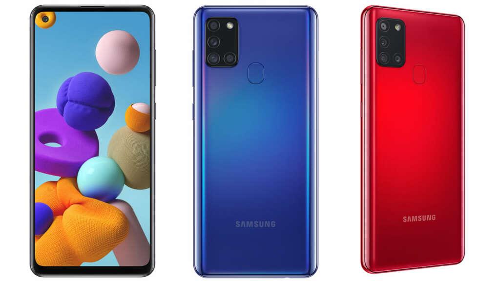 Precios y características del Galaxy A21s en Chile.