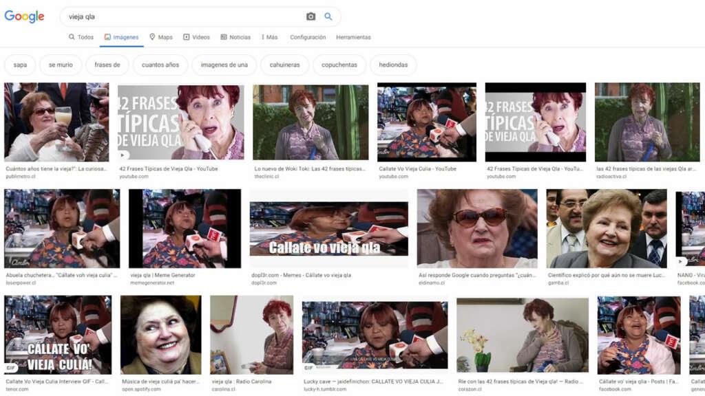 Lucía Hiriart en Google Images.