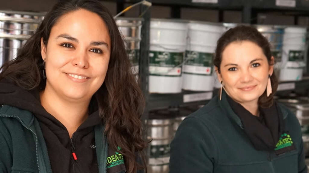 Empresa chilena recicla plumavit para usarla en pintura de pisos y muros.