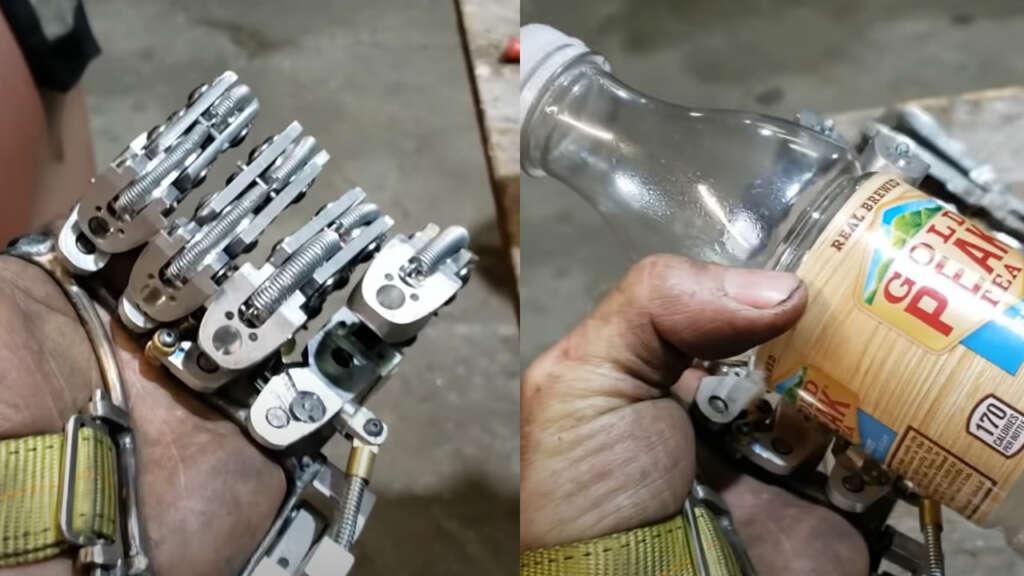 Esta asombrosa prótesis mecánica no utiliza ningún sensor o pieza eléctrica