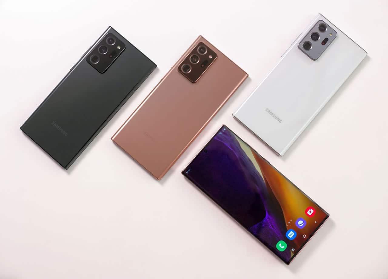 Estas son las características de los nuevos Galaxy Note 20 y Note 20 Ultra.