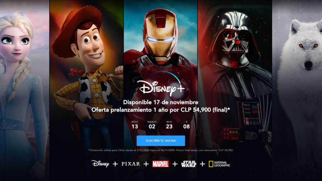 Disney+ en Smart TV Samsung.