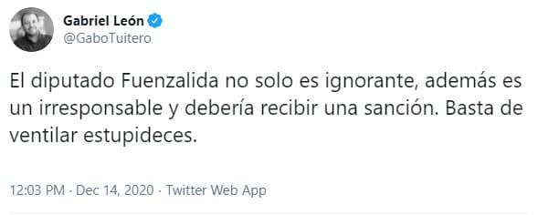 Diputado Fuenzalida (RN) dice que no se vacunará por Coronavirus y científicos se molestan.