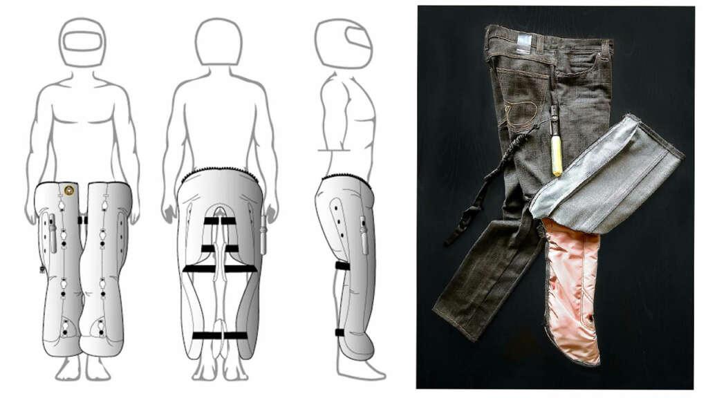 Prototipo de Jeans con Airbags buscan cuidar a motociclistas en accidentes.
