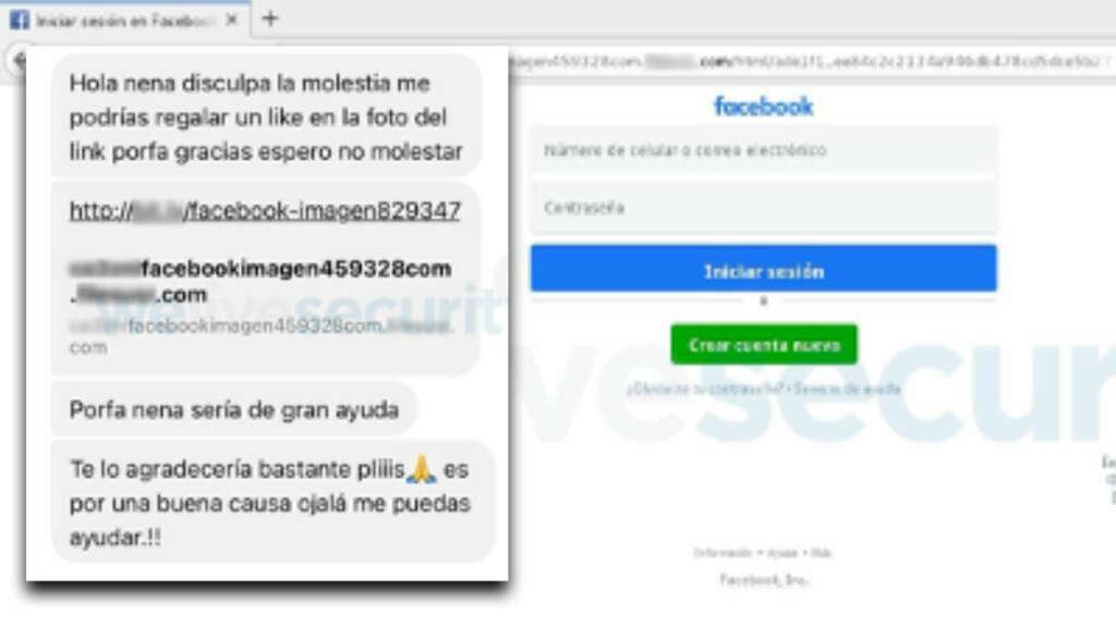 Phishing en Facebook te invita a dar 'Me gusta' en una foto para robarte tus datos.