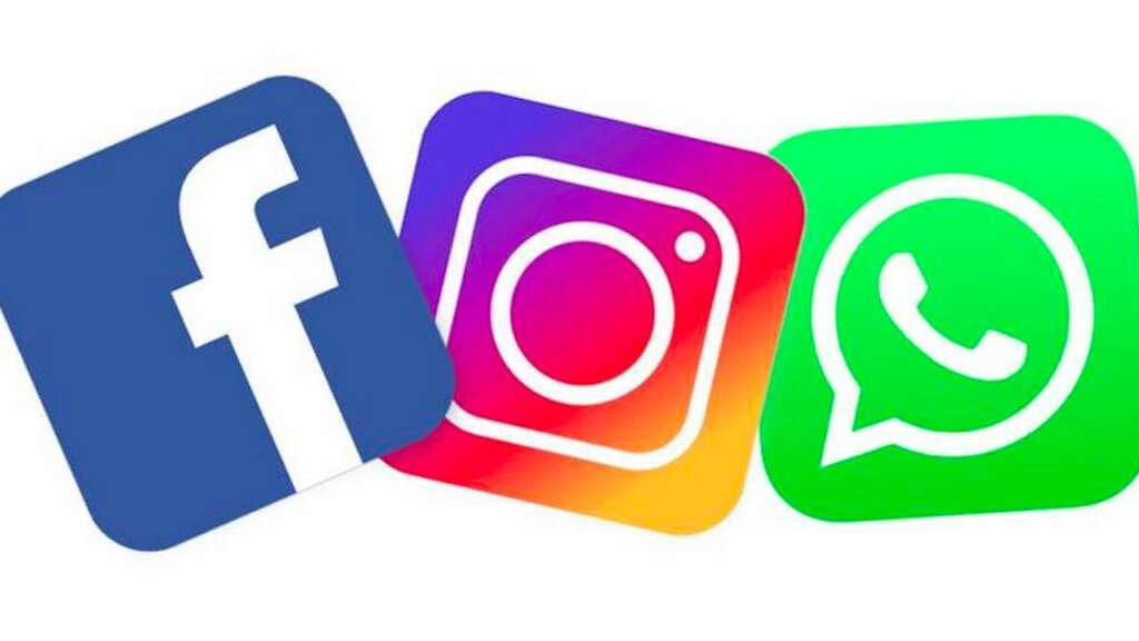 Facebook, Instagram, WhatsApp.