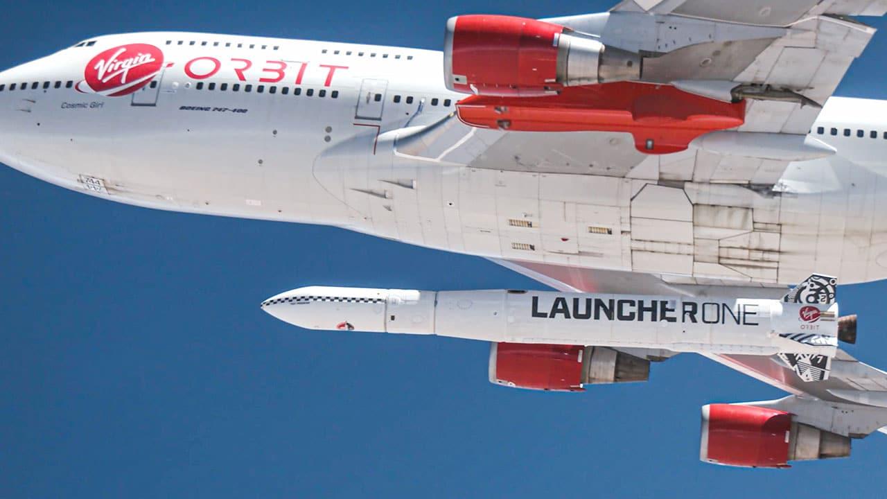 Virgin Orbit lanzó un satélite al espacio desde un avión.
