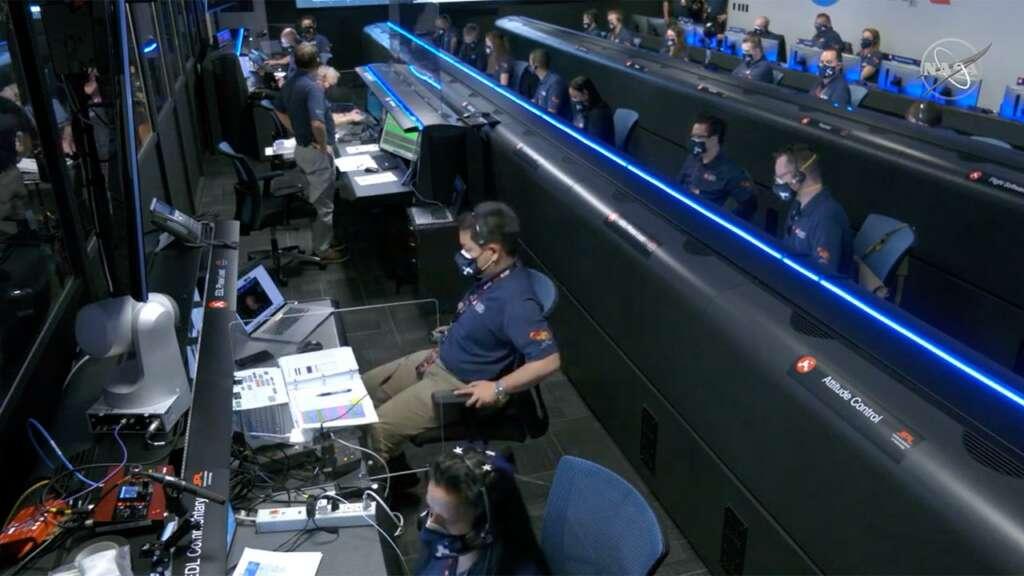 Equipo de Perseverance en la NASA.