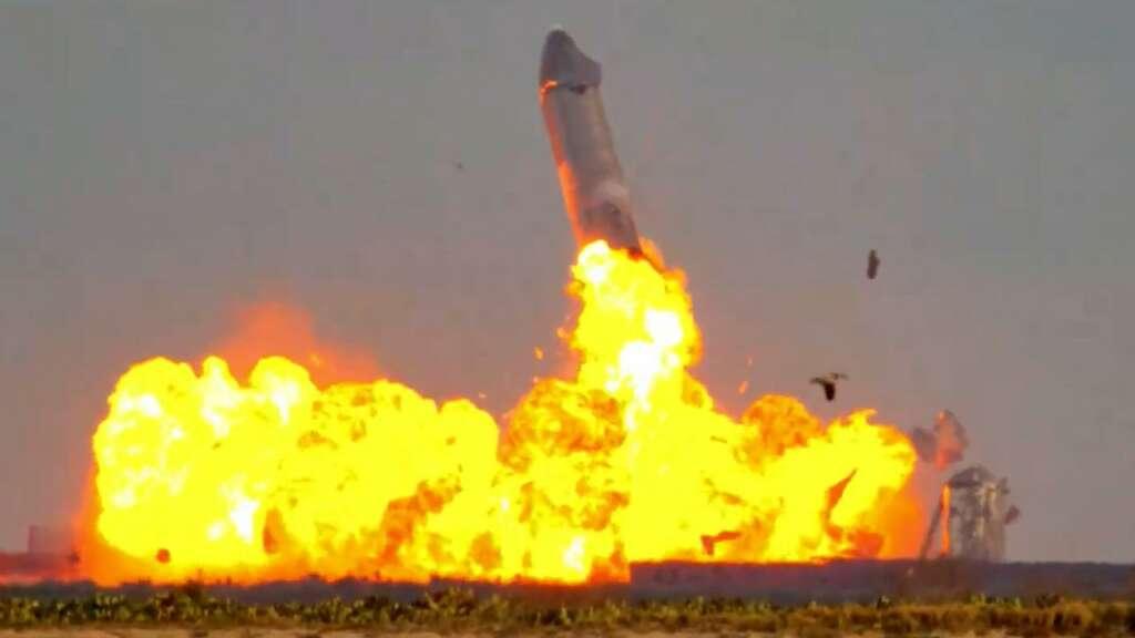 Explosión del SN10 de SpaceX.