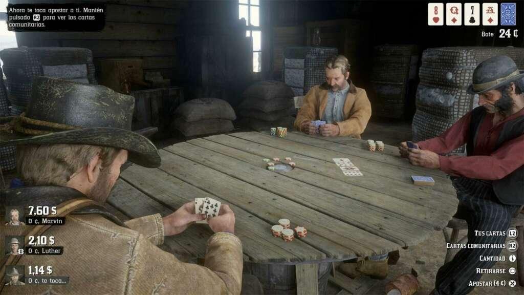 Juego de Casino en Red Dead Redemption 2.