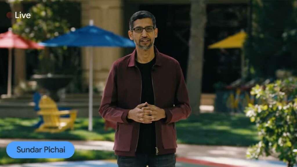 Google I/O 2021 Sundar Pichai.