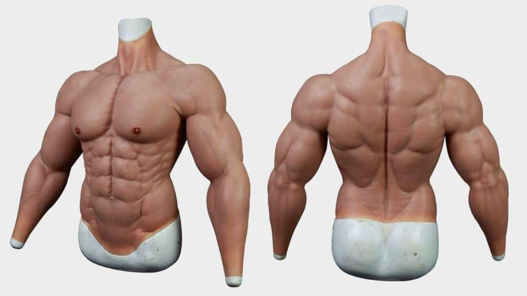 Esta compañía vende trajes musculosos e hiperrealistas para que no vayas al gimnasio.