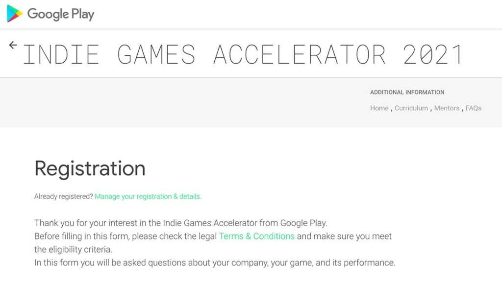 Indie Game Accelerator 2021.