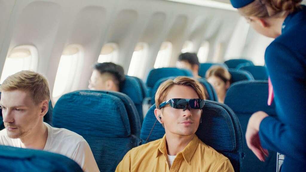 TLC NXTWEAR G en avión.